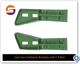Cast Iron Cantilever Brackets With C P Bolts, Cast Iron Cantilever Brackets With C P Bolts manufacturers, Cast Iron Cantilever Brackets With C P Bolts suppliers, C P Bolts, C P Bolts manufacturers